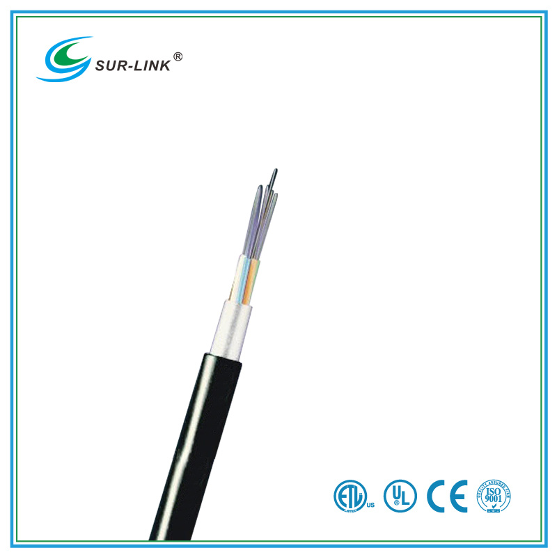 30-Fibers Black Stranded Loose Tube Non-Armored Fiber Cable (Metallic Strengthe)