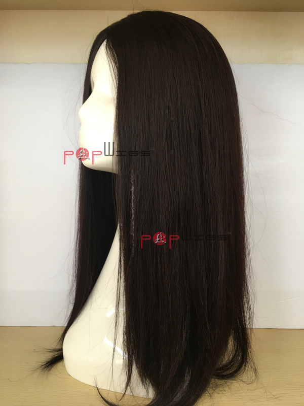 Part Lady Wig Human Hairstock Lace Front Wig, Front Lace Jewish Silk Top Wig