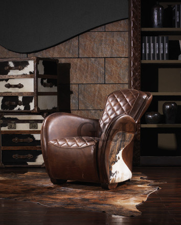 Leather Equestrian Saddle Chair