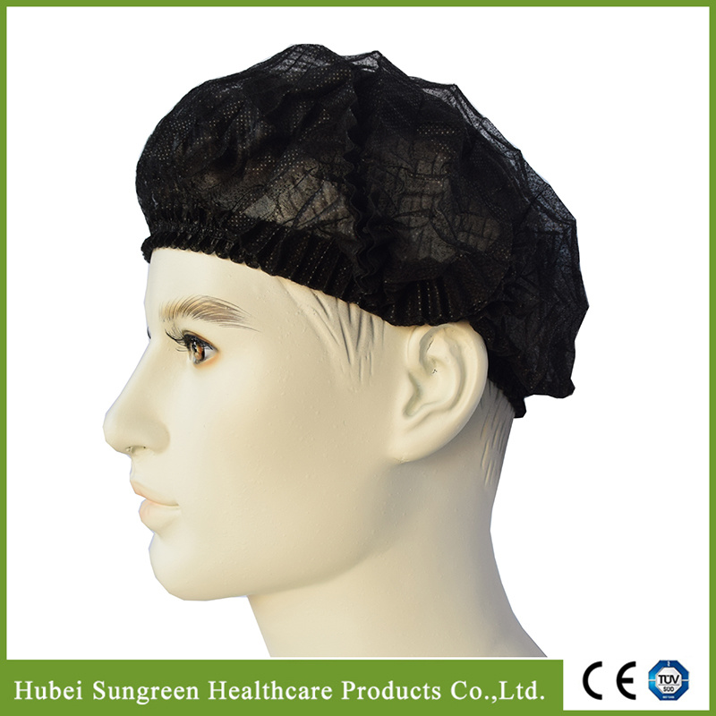 Disposable Non-Woven Clip Cap, Mob Cap, Bouffant Cap, Surgical Cap, Doctor Cap