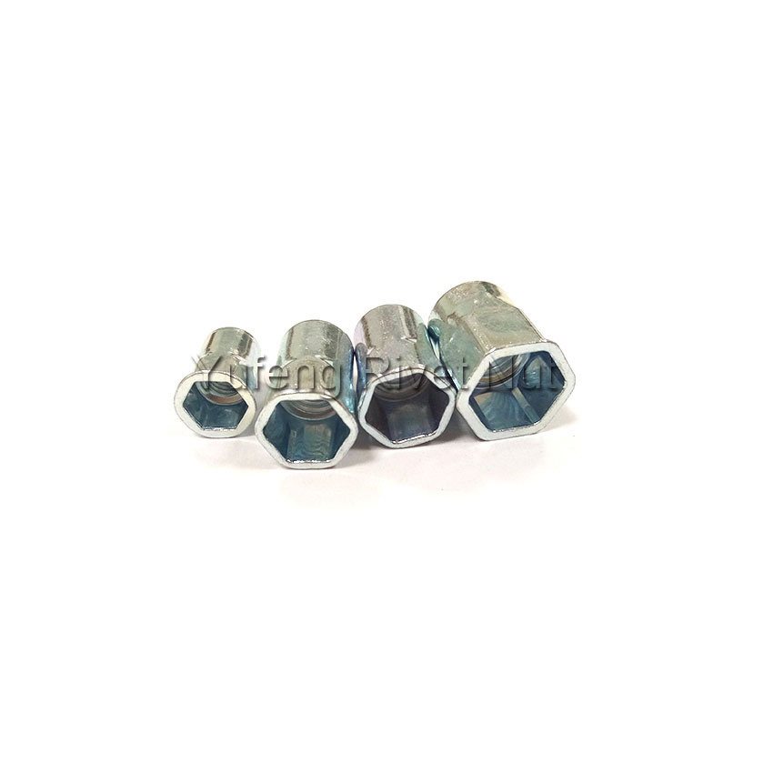 Carbon Steel Small Head Inside and Outside Hexagonal Rivet Nut