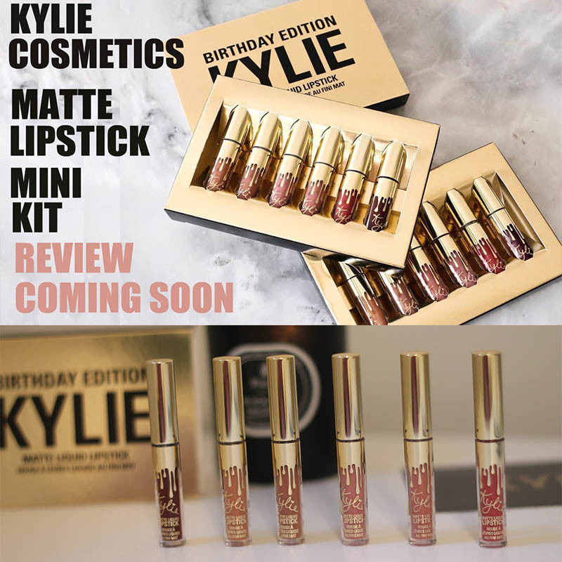 Kylie Cosmetics Birthday Limited Edition lipstick Matte Edition Lip gloss 6PCS/SET