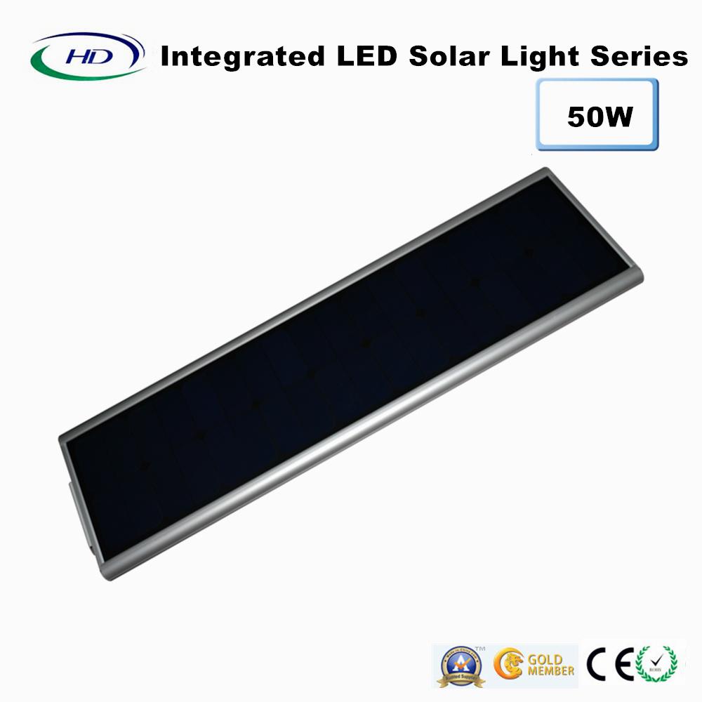 50W PIR Sensor Integrated LED Solar Street Light