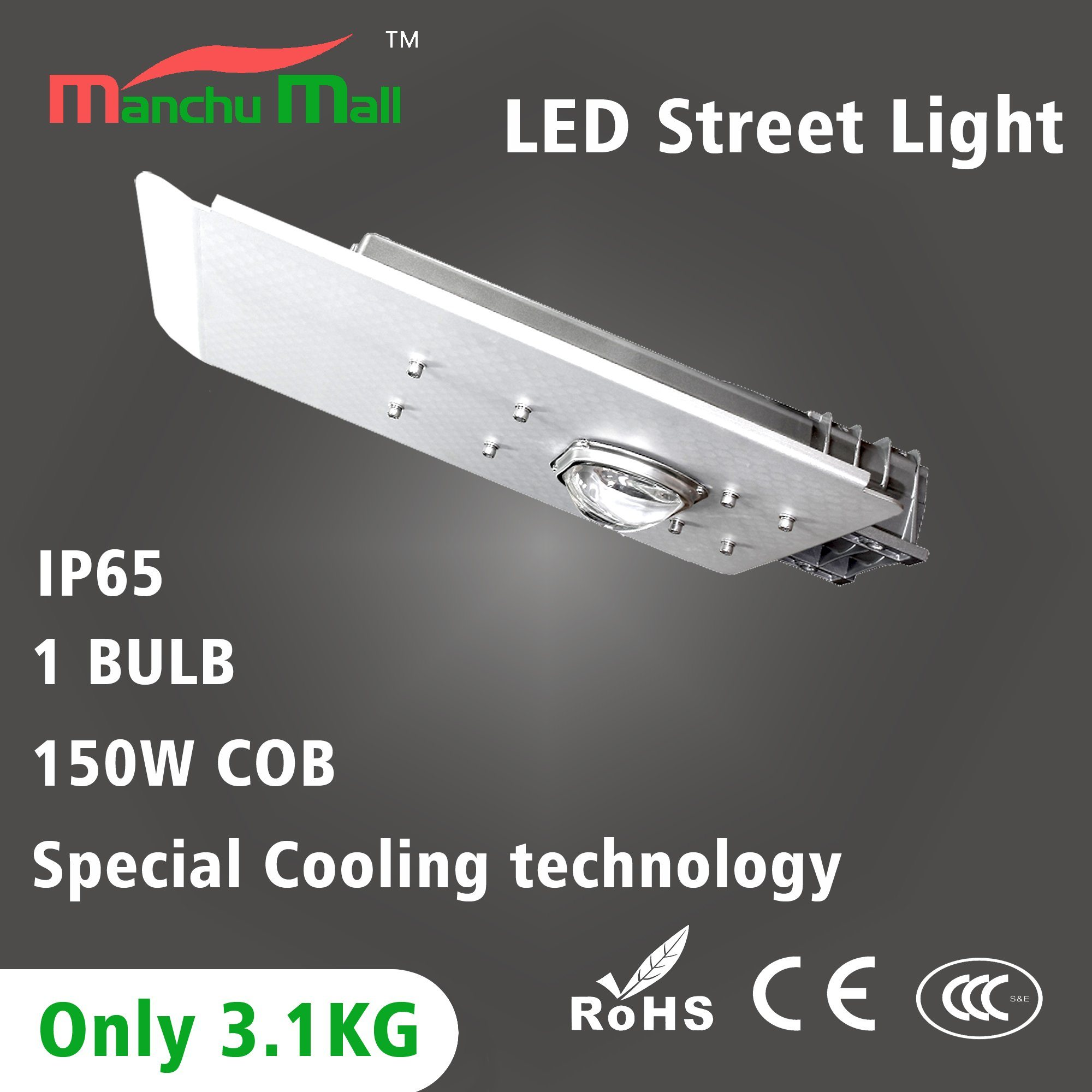 100watt Professional High Lumen Bridgelux Chip LED Street Lamp