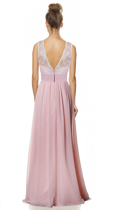 Sexy Nice Full Length Evening Bride Dress with V-Neck