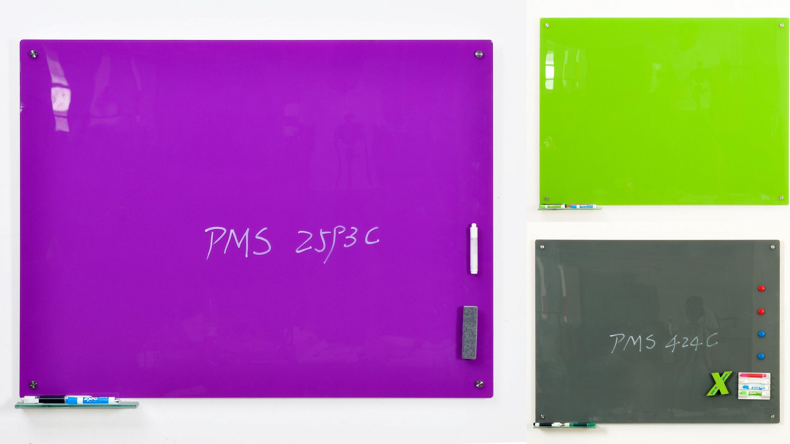 Fresh Colored Glass Dry Wipe Writing Whiteboard with Ce, SGS, En71 Certificated