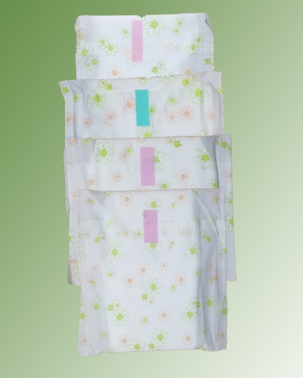 Disposable Breathable Sanitary Pad with PP Non-Woven Fabric