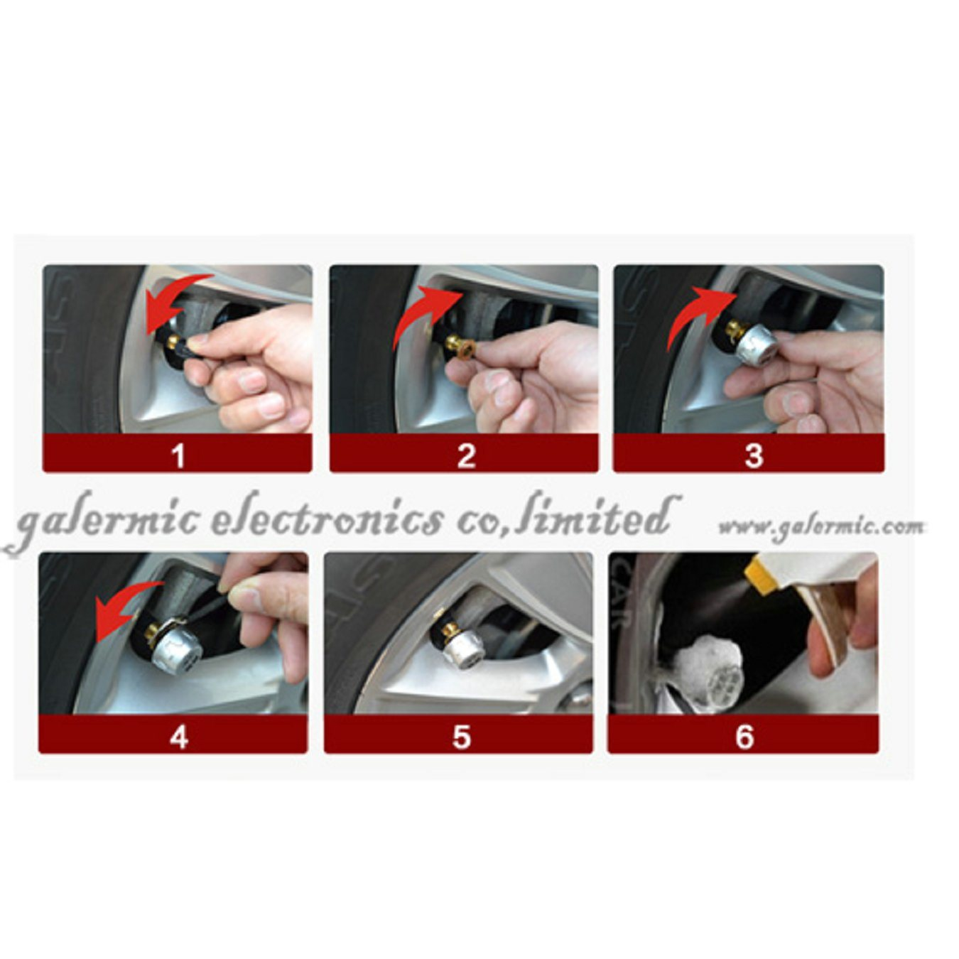 Solar Power TPMS Tire Pressure Monitoring System External Sensor