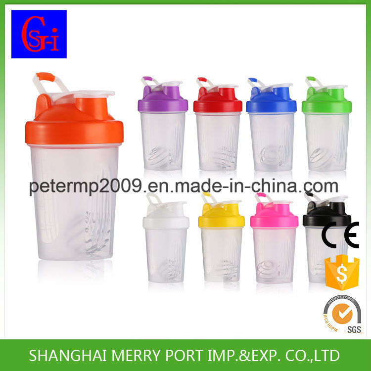400ml 14oz Yellow Plastic Shaker Cups, Protein Shaker