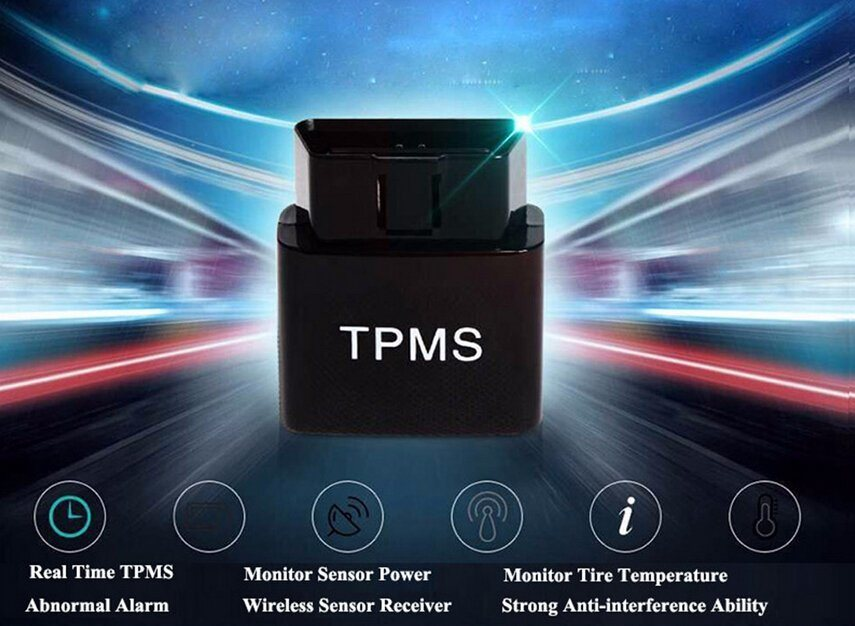 New Hot Sale Mobile Phone APP Bluetooth Display Tire Pressure Alarm TPMS