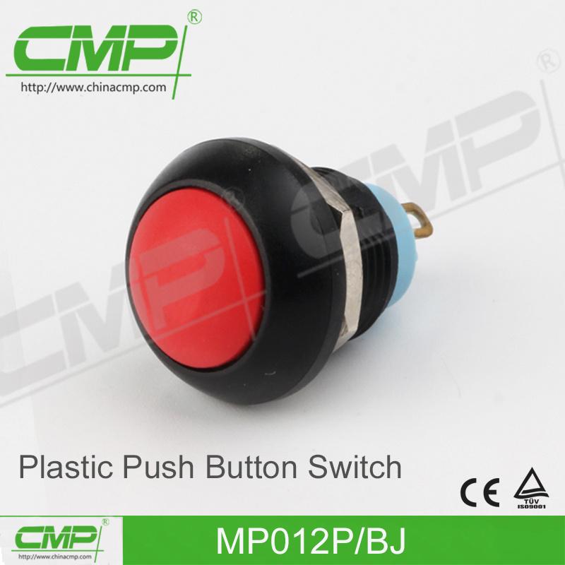 Light Plastic Push Button Switch (12mm)