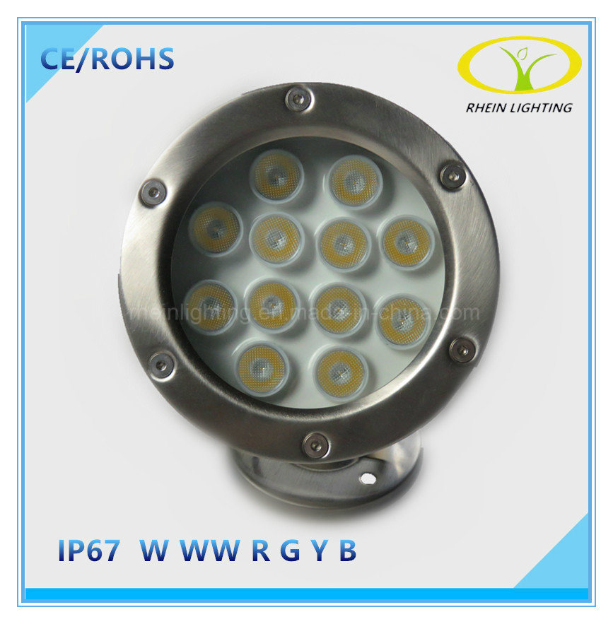 12W Stainless Steel LED Underwater Light RGB