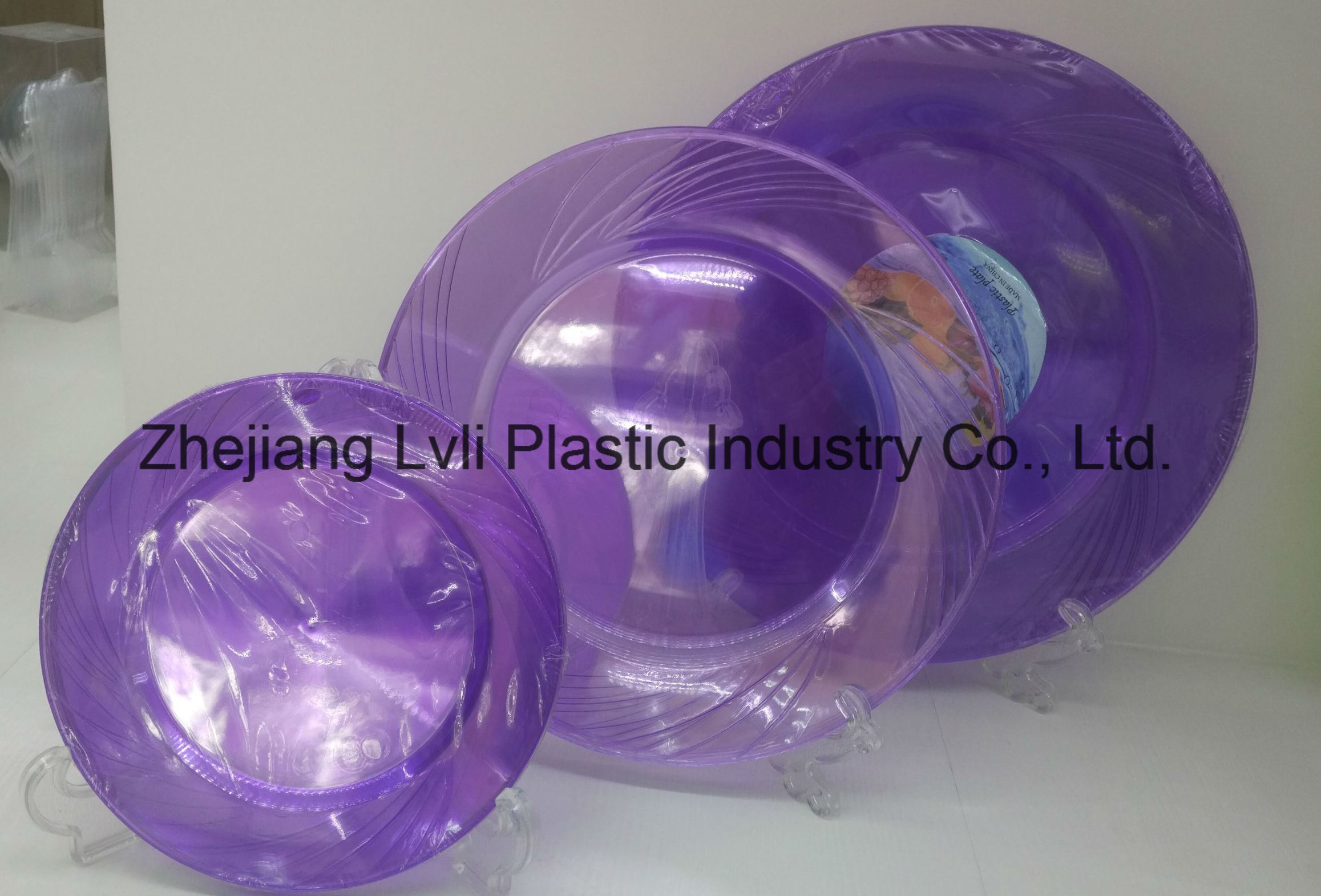 Plastic Plate, Disposable, Tableware, Tray, Dish, SGS, Pb-04