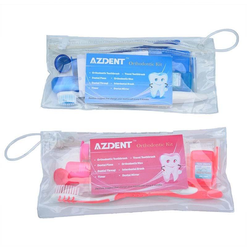 Dental Orthodontic Oral Care Tooth Brush Interdental Brush Floss Kit