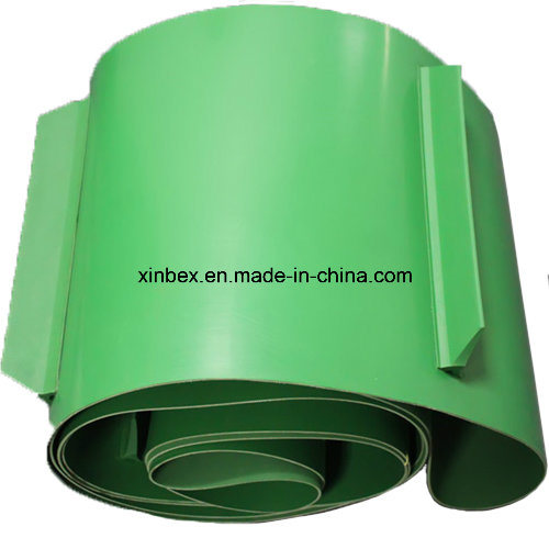PVC Green Matt/Shiny Conveyor Belt with Cleats/Profile