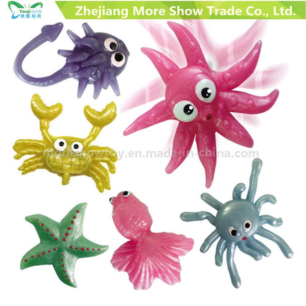 Wholesale Novelty TPR Animals Plastic Sticky Toys Kids Party Favors
