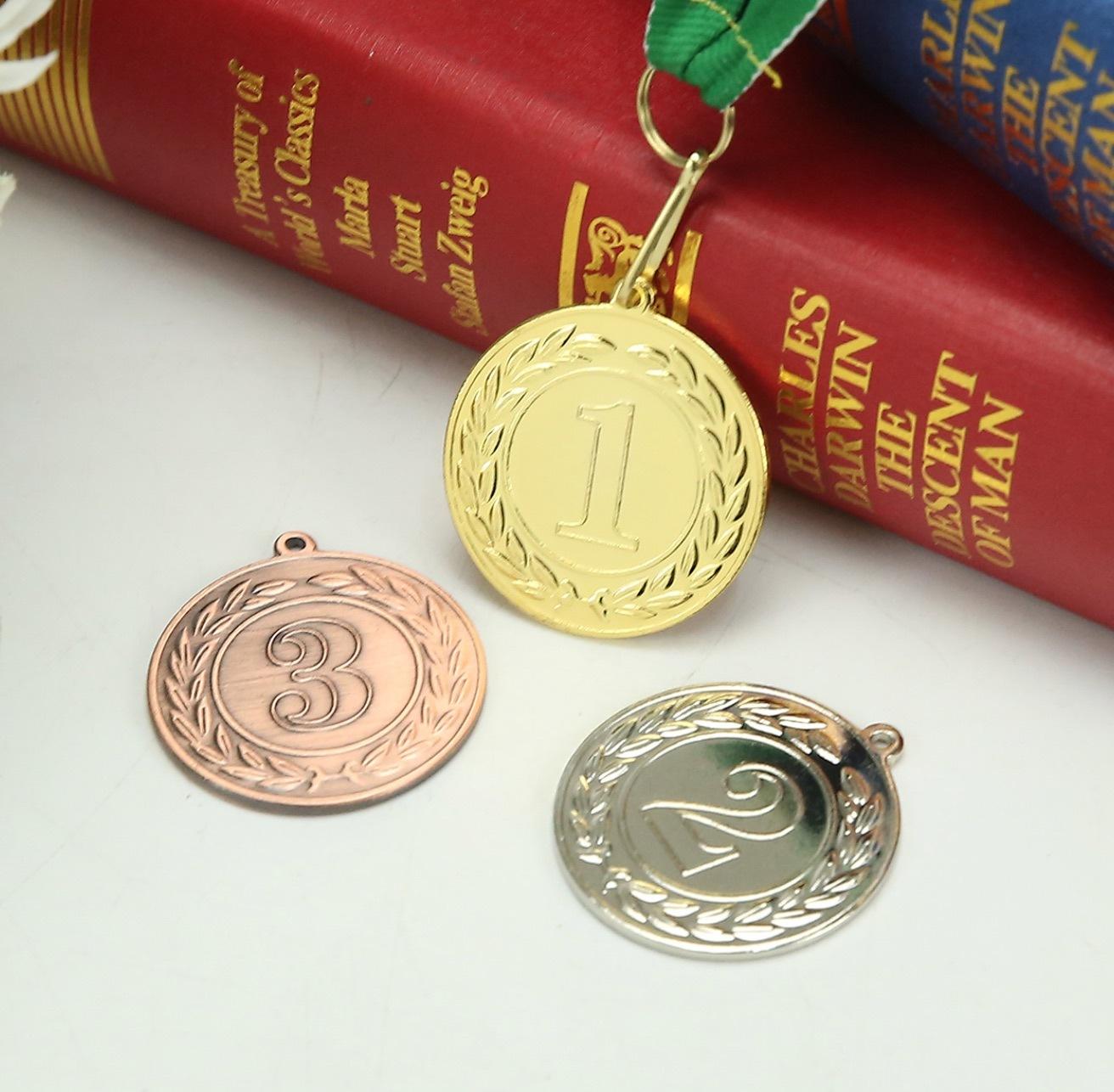 Golden Sliver Bronze Places Iron Medal