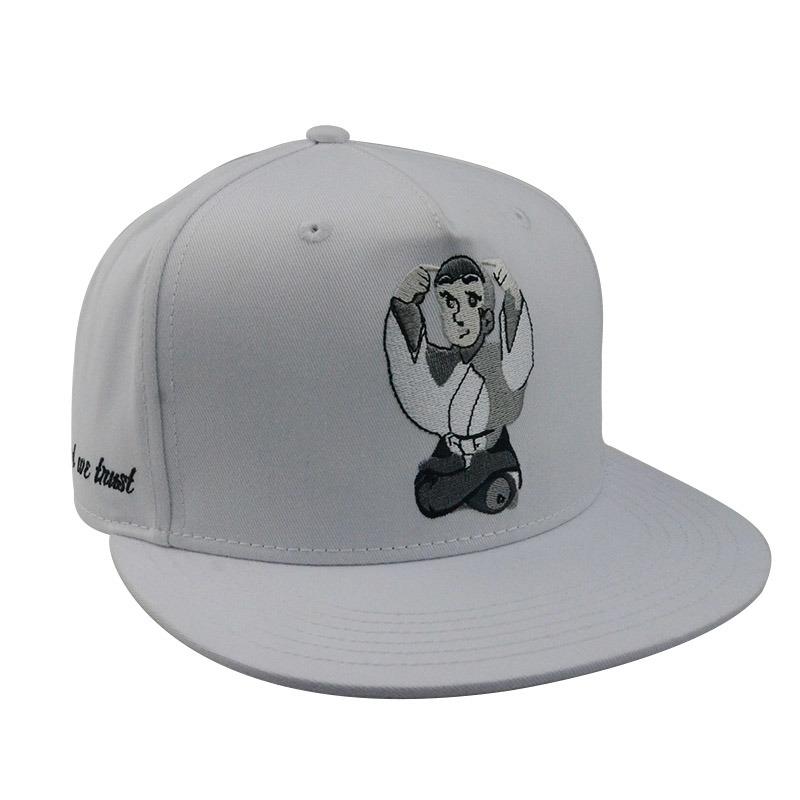 Fashion Hip Hop Flat Brim Cotton Snapback Cap Custom