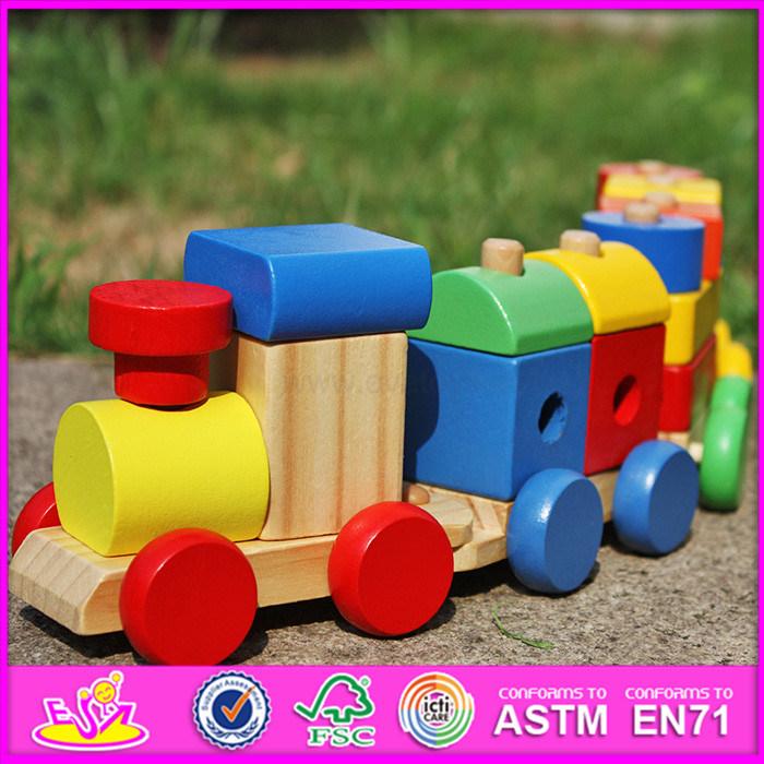 2016 Wholesale Fashion Kids Wooden Block Toy Car W04A280