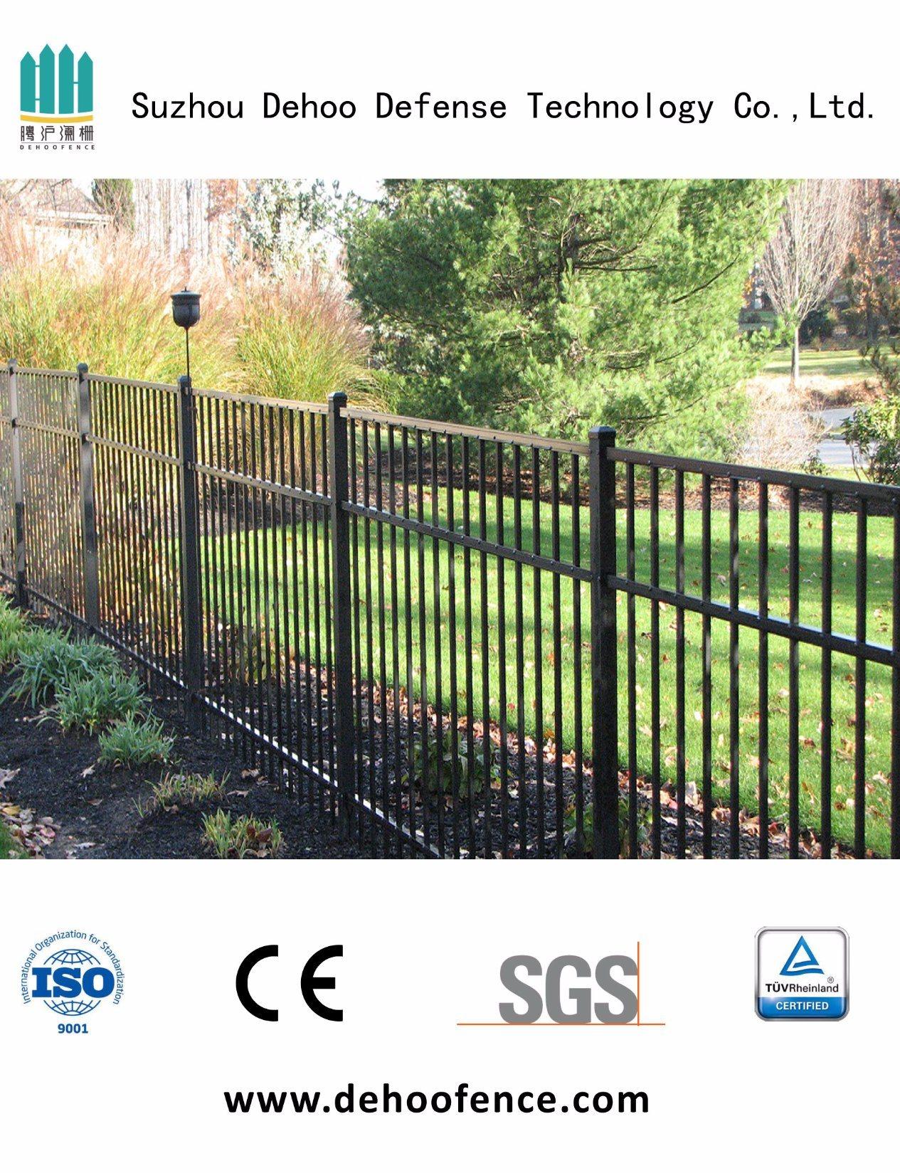 Welded Galvanized Black Powder Coated Fence for Garden