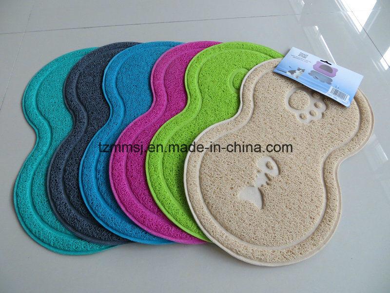 Pet Supply PVC Cat Litter Catcher Mat Pet Feeding Bowl Mat