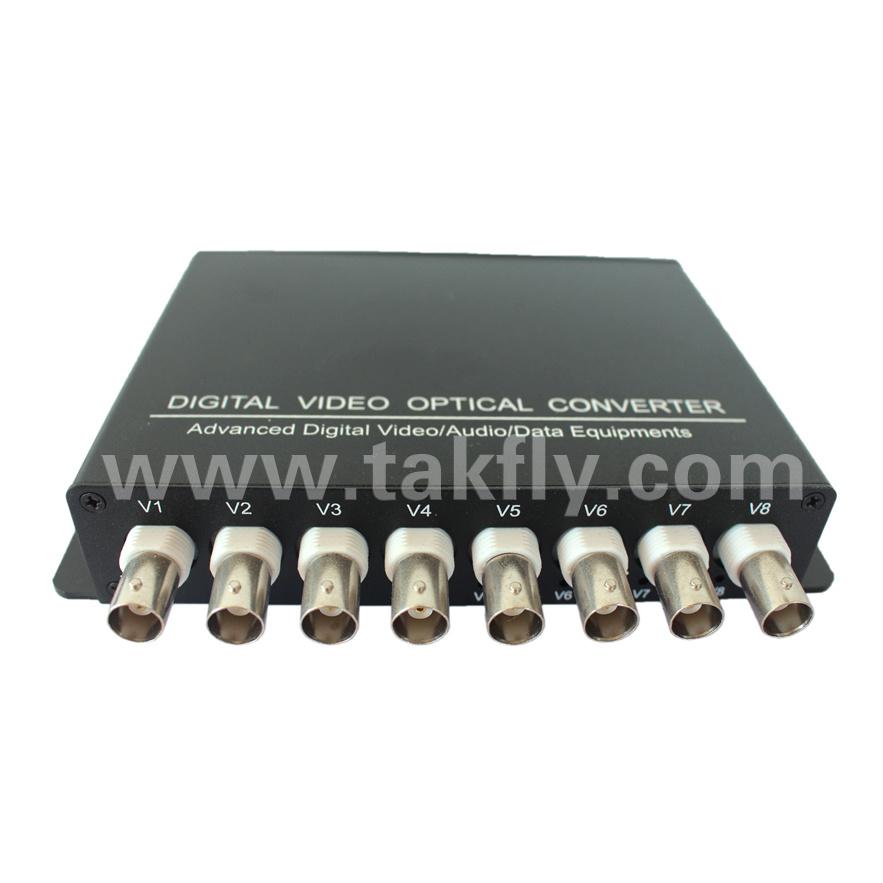 8 Ports 1080P Hdtvi Video Fiber Optical Converter/Transmitter/Receiver/Video Multiplexer