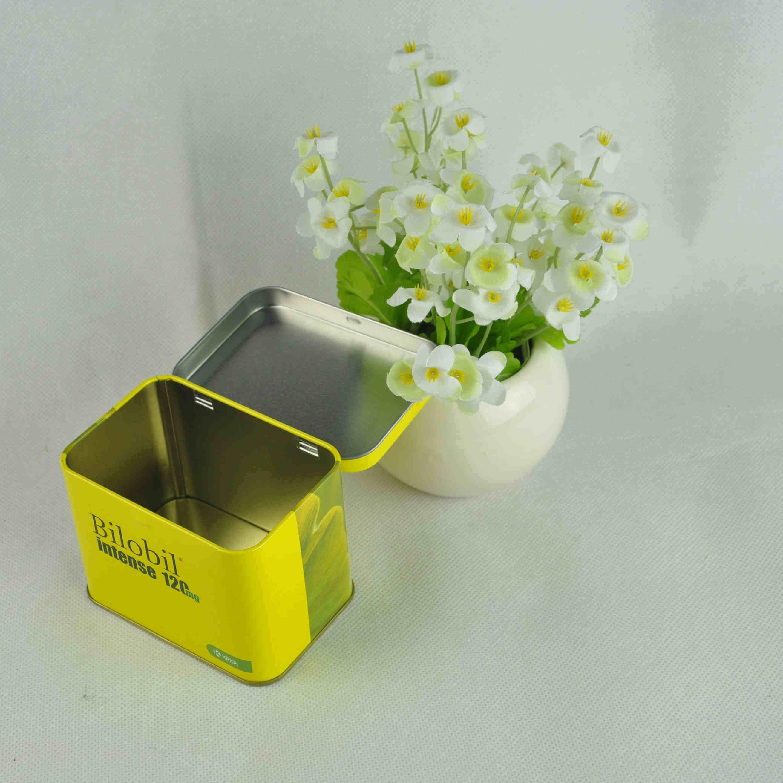 Cmyk Print Food Grade Tea Tin Box