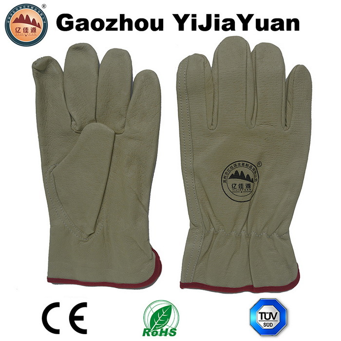 Pig Grain Leather Industrial Safety Driver Work Gloves