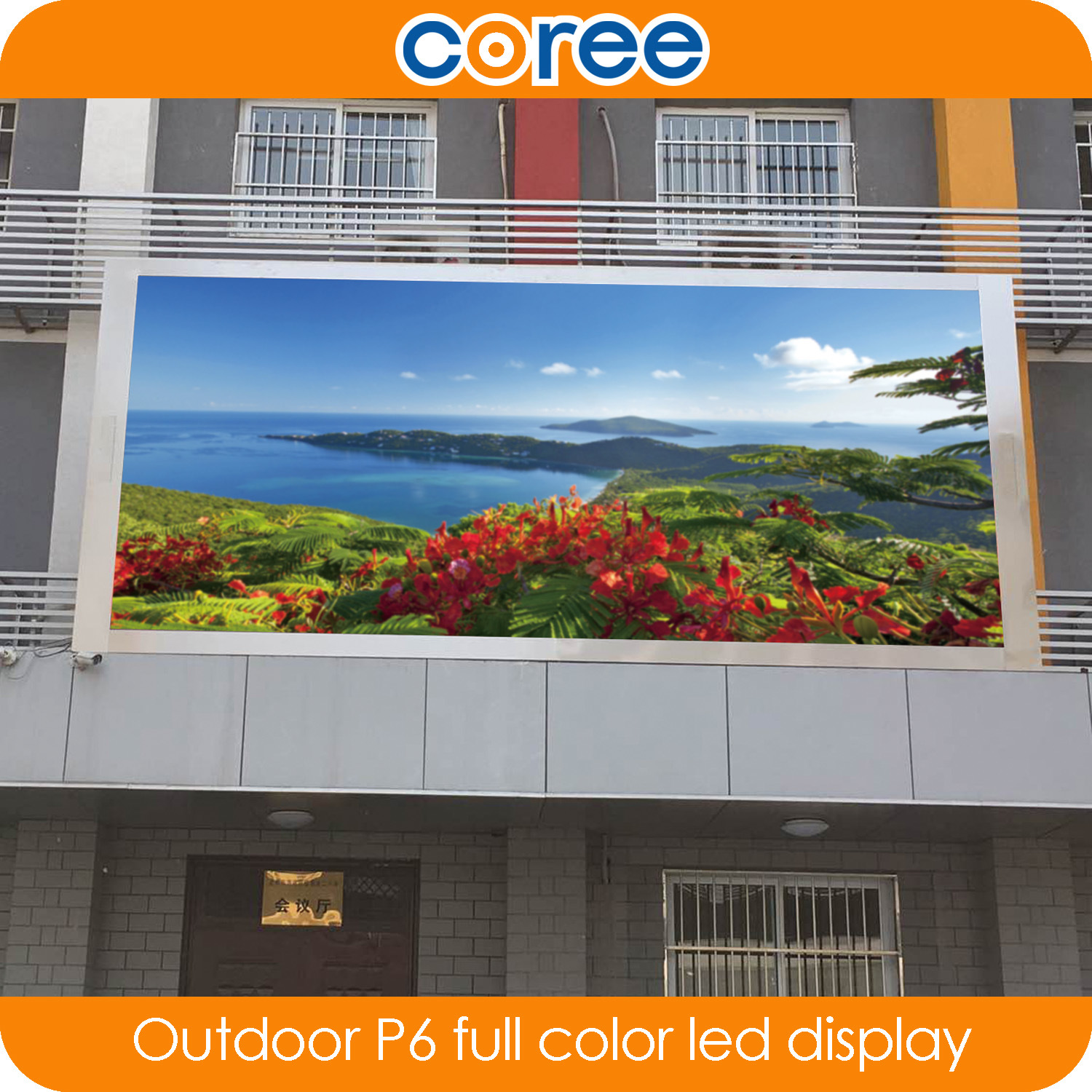 Outdoor High Definition Hight Brightness P6 Full Color LED Display
