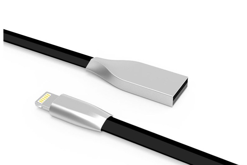 5V/1.5A Zinc Alloy TPE USB Data Cable for Samsung Phone, iPhone