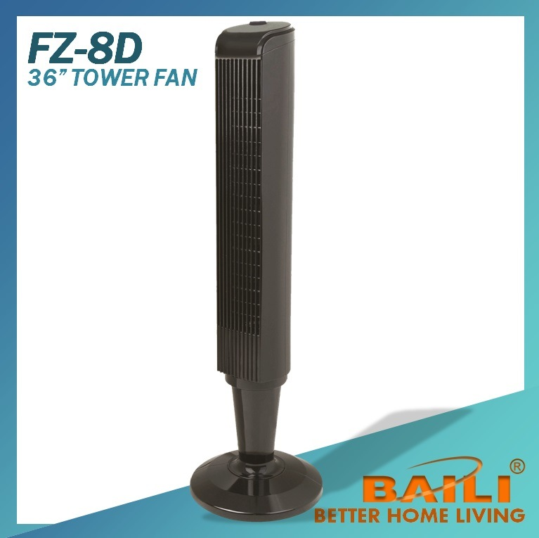 36 Inch Electrical Tower Fan, Black, Oscillation