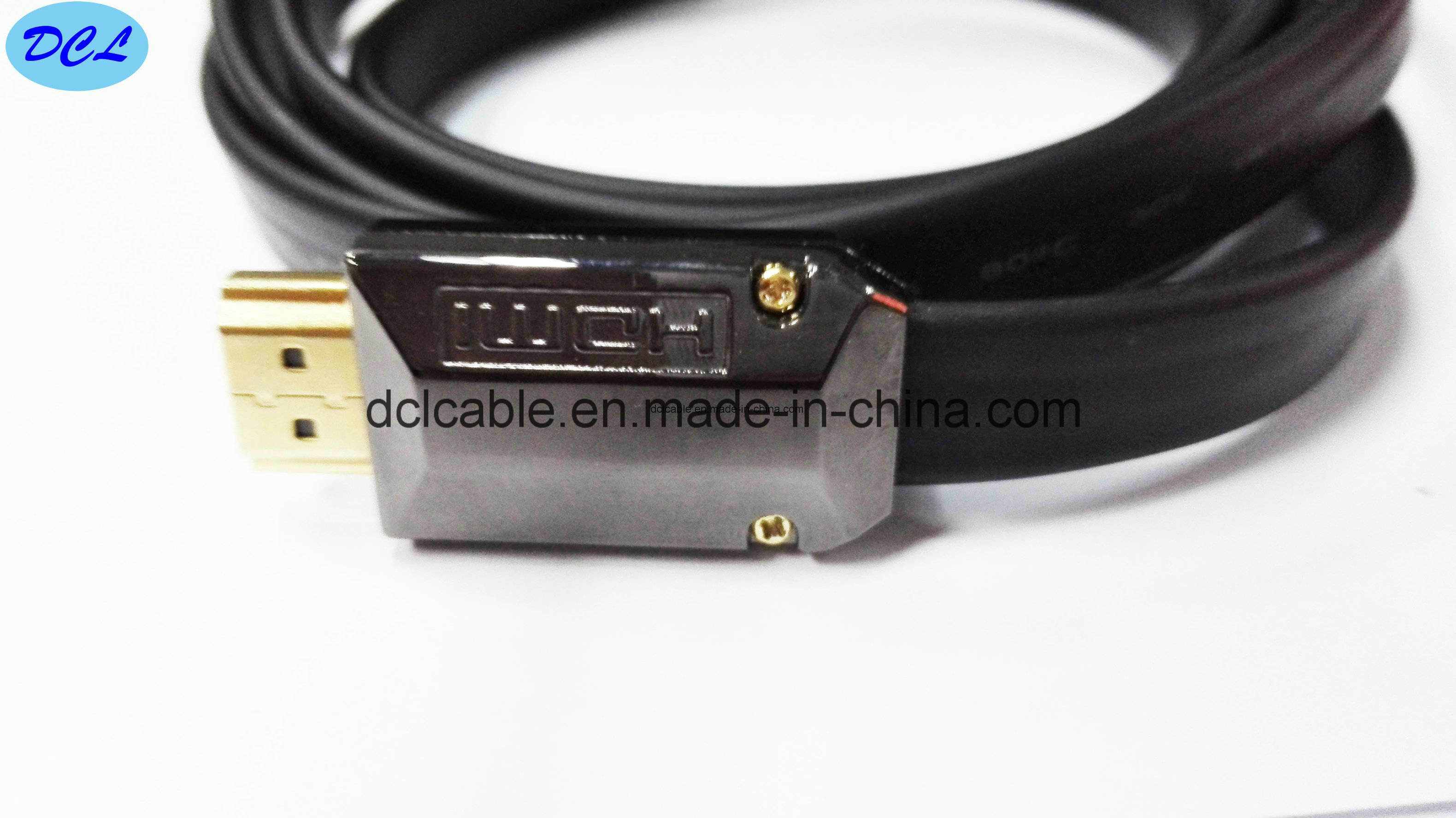 Falt HDMI Cable 1.4V Gold Plated Metal Shell