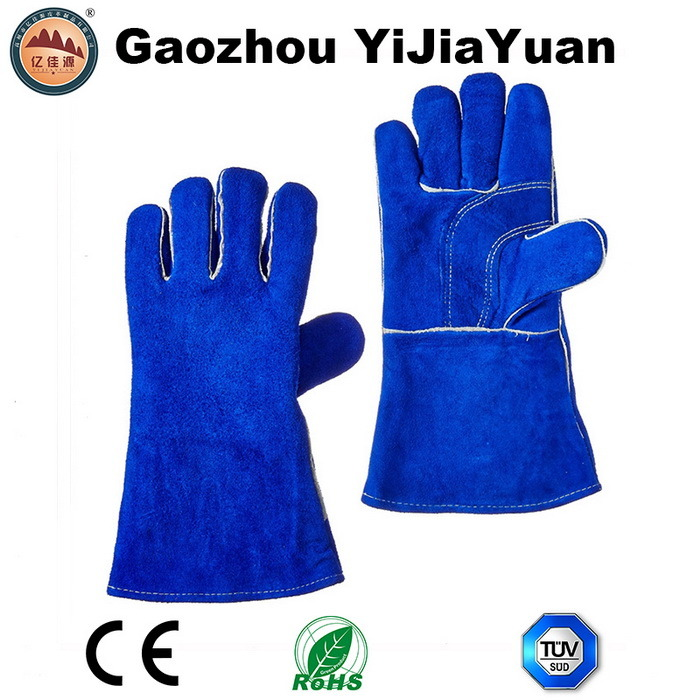 Reinforcement Palm Industrial Safety Welders Gloves with Ce En12477