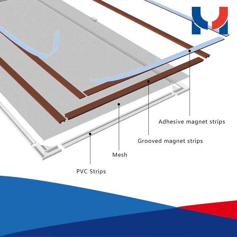 Door & Window Screens Type and Fiberglass Screen Netting Material DIY Magnetic Insect Screen Window