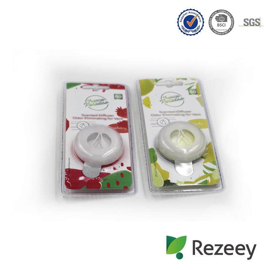 Round Shape Crystal Liquid Car Vent Membrane Air Freshener