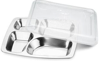 5 Compartment Stainless Steel Fast Food Tray/Snack Tray