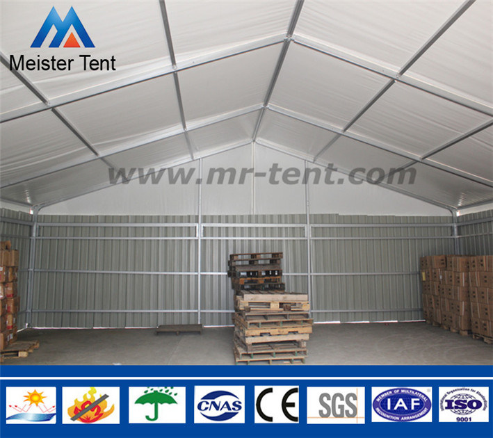 Steel Wall Outdoor Frame Storage Warehouse Tent with Shutter Door