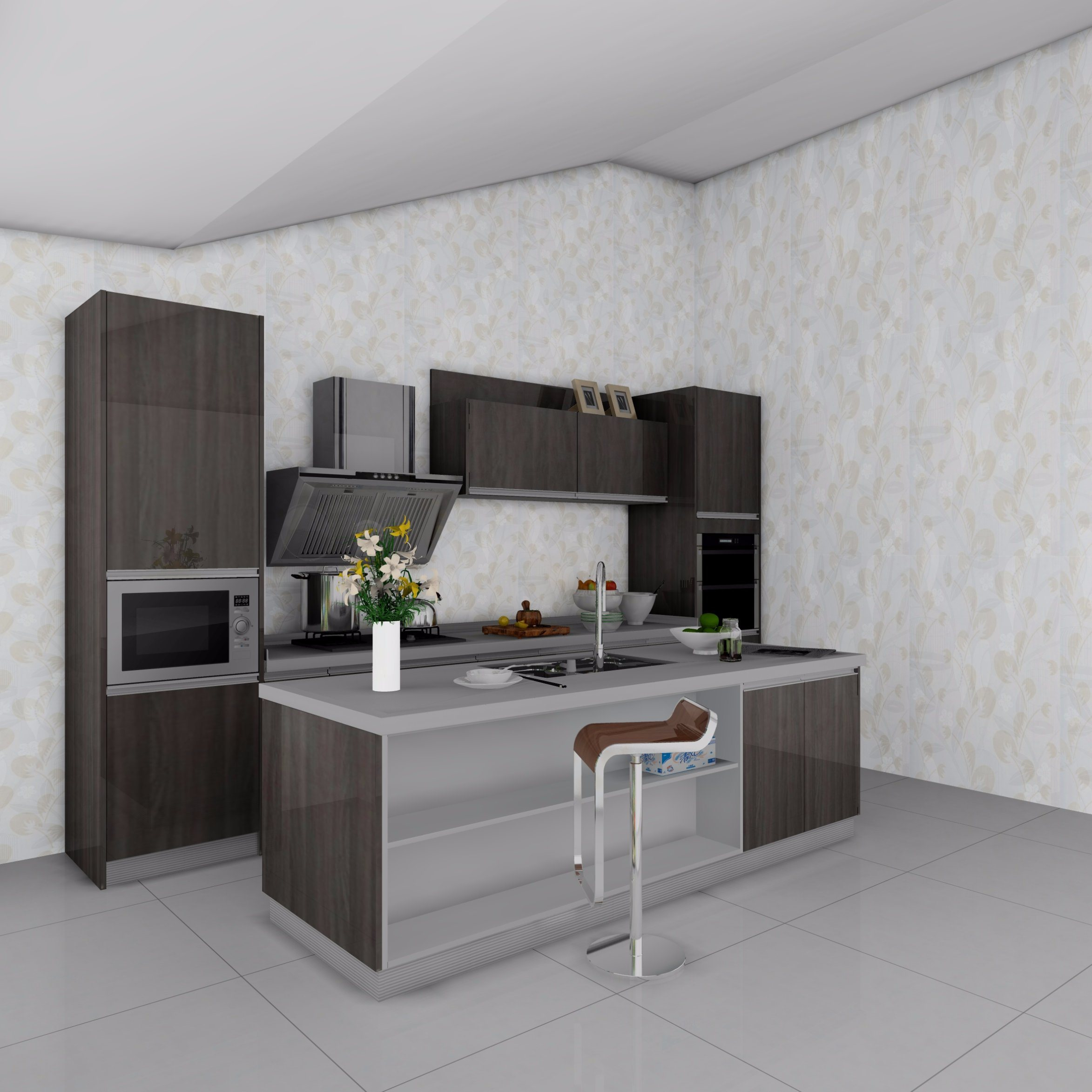 Modern UV High Glossy Kitchen Cabinet