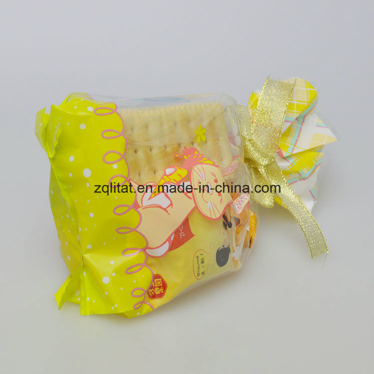 1.6mil LDPE Transparent Cello Bag / BOPP Side Gusset Plastic Bag with Printed