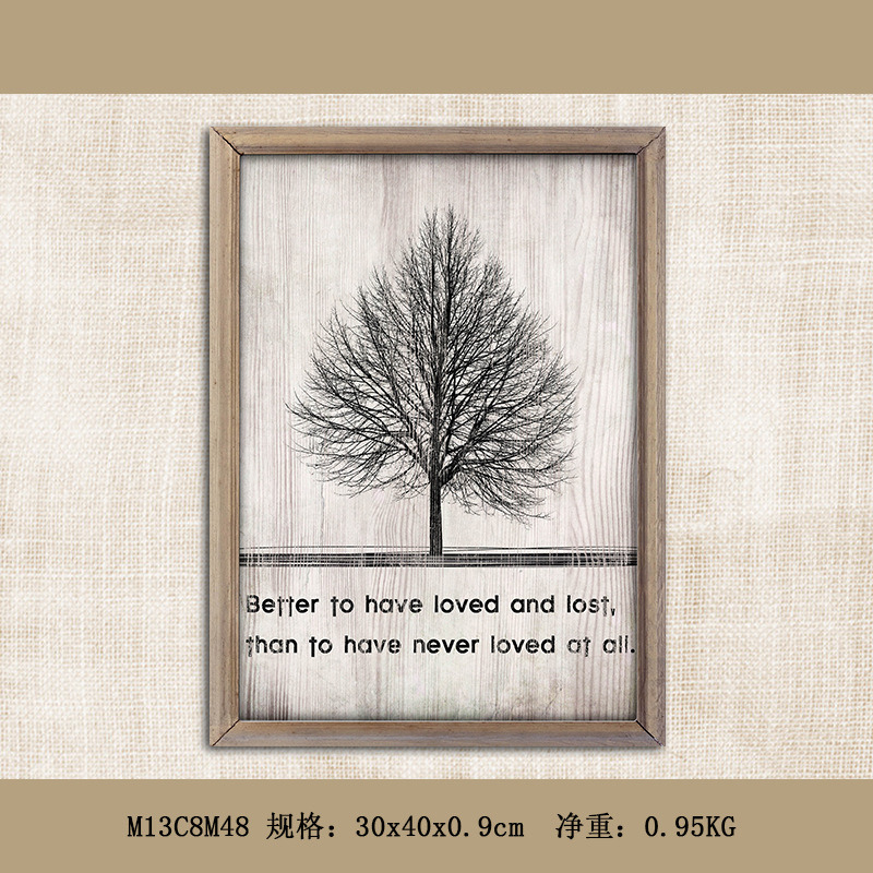 Modern Home Goods Wall Art Canvas Wooden Painting Wall Decoration