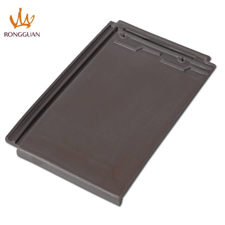 Building Material Dark Grey Tiles Price Ceramic Roof Tile (F1-W57)