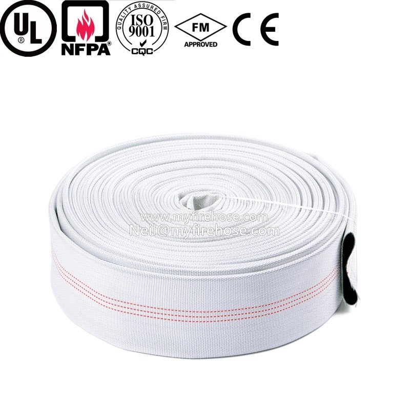 4 Inch Wear-Resisting PVC Lined Fire Hose for Fire Fighting