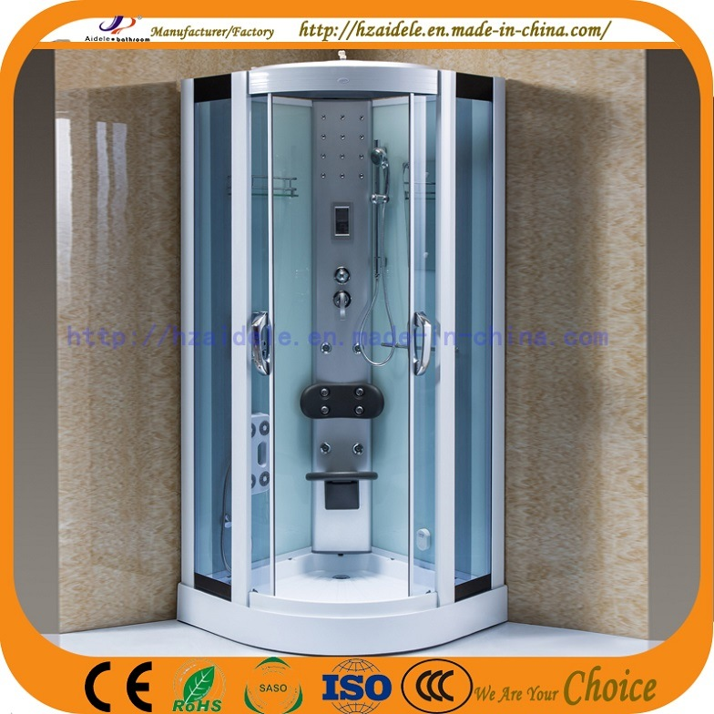 Low Tray Blue Glass Steam Shower Room (ADL-8220)