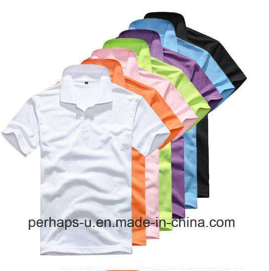 High Quality Clothes Pure Color Polo T-Shirt with Custom Logo