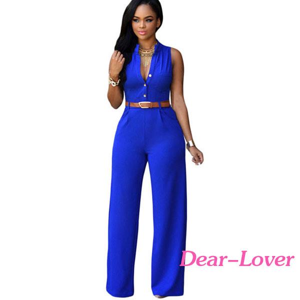 Fashion Women′s Ladies Sleeveless Jumpsuit Romper