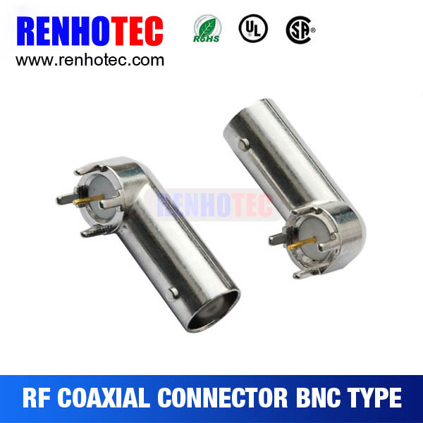 High Quality BNC Connector 90 Degree Female PCB Mount