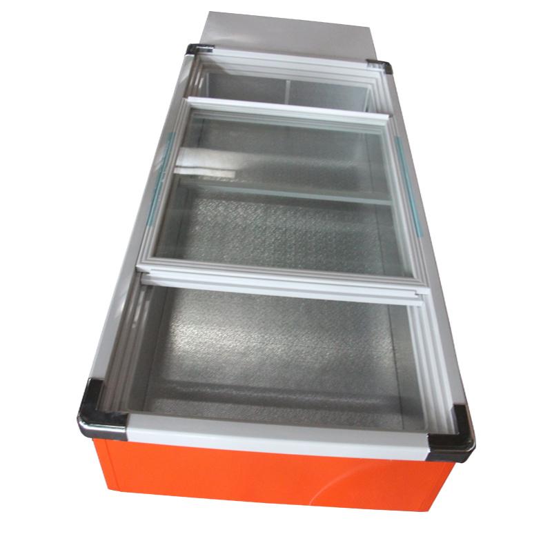 Two Glass Sliding Doors Desktop Seafood Freezer