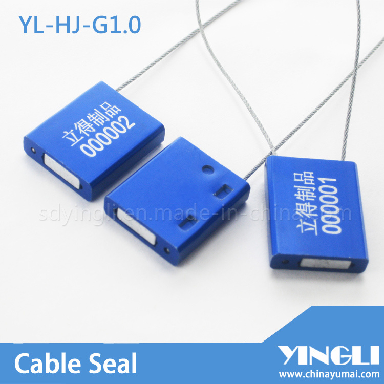 Pull Tight High Duty 1.0mm Security Cable Seal in Metal Material (YL-HJ-G1.0)