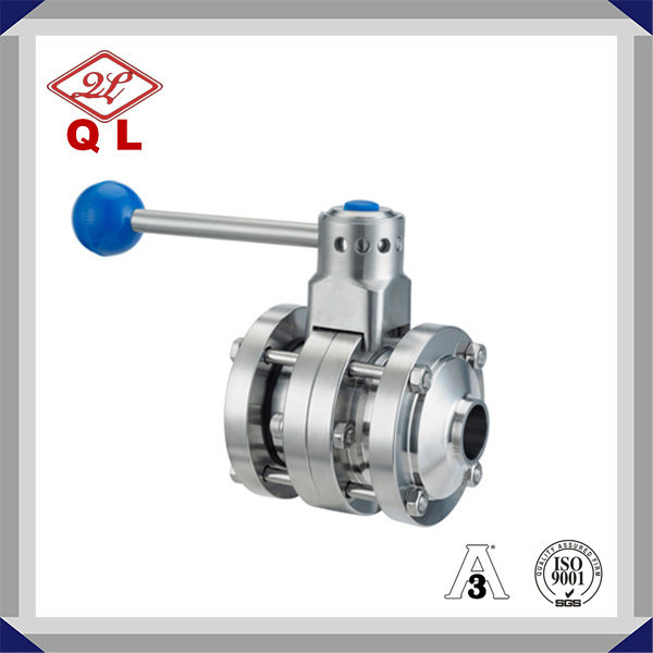 304/316L Sanitary Stainless Steel Threaded Butterfly Valve