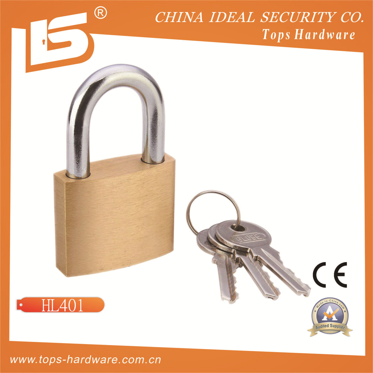 High Quality Globe Brass Padlock (HL40)